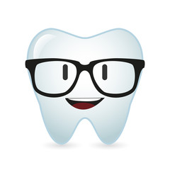 cute tooth avatar wearing glasses