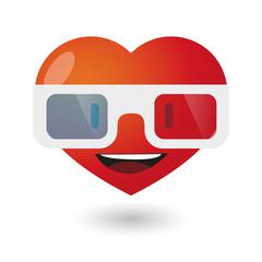 cute heart avatar wearing glasses