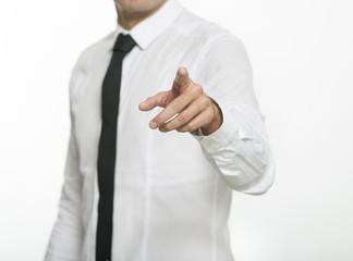 business man click con dito