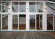 canvas print picture - Große Fenster Fassade