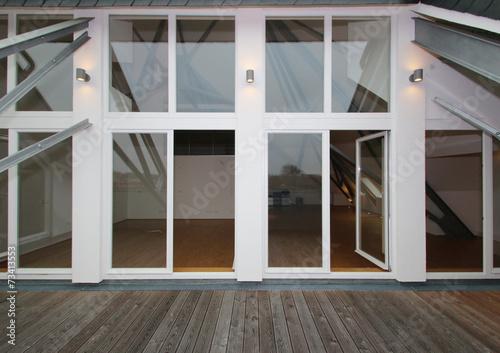 canvas print picture Große Fenster Fassade