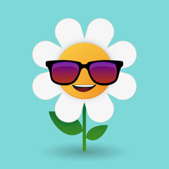 cute flower avatar wearing glasses