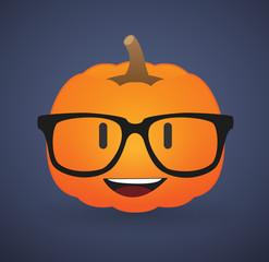 cute pumpkin avatar wearing glasses