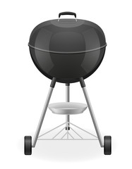 brazier for barbecue vector illustration
