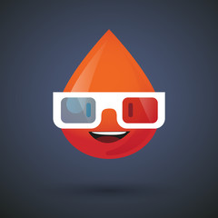 blood avatar wearing glasses