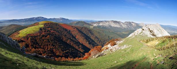 Panorama of Urkiola Natural Park