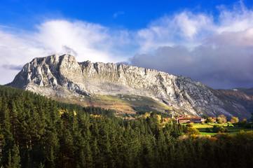 Itxina massif and Urigoiti village