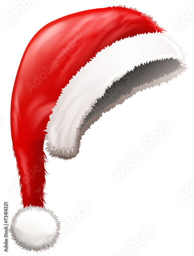 blank santa hat poster