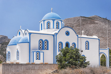 kamari church on a hill
