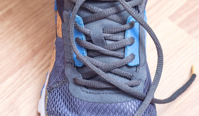 Sporting  sneakers with laces