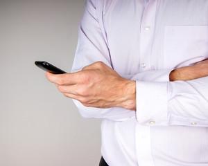 Smartphone in hand man