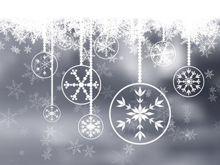 Christmas Decorations with Snowflakes