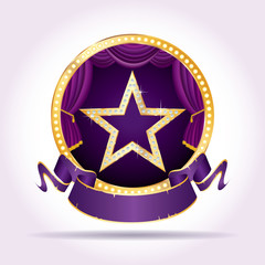 purple circle stage star