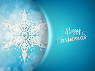 Blue xmas background with snowflakes. EPS 10