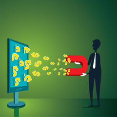 earning money online design concept vector