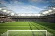 Leinwandbild Motiv Stadion mit Tor