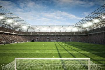 Fototapeta stadion piłkarski za bramką