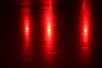 Red lights on the ice