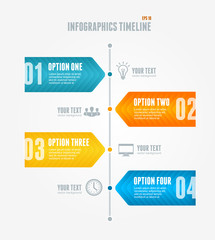 Vector Timeline Infographic. Retro style.