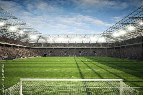 Fotobehang Stadion Stadion mit Tor