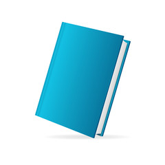 Vector book cover  blue perspective
