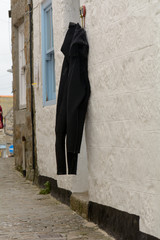 Wetsuits drying