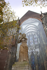 The statue of Corinne Franzn-Heslenfeld, Dom of Utrecht