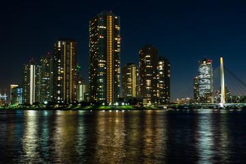 東京湾岸の夜景