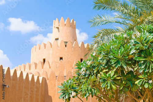 Famous Jahili fort in Al Ain oasis, United Arab Emirates - 73416988