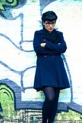 Retro Girl in a urban environment
