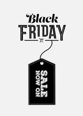 Black friday vector with tag
