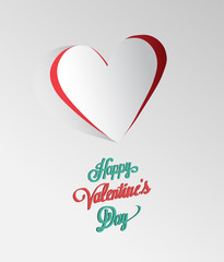 Happy Valentines Day vector with heart