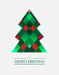 Merry christmas vector with tree