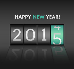 Happy new year vector with 2015