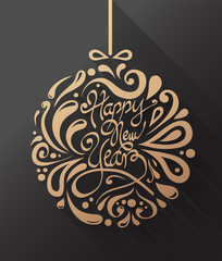 Stylish happy new year design