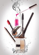 Постер, плакат: Cosmetics Make up Beauty and Freshness Concept