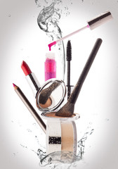 Cosmetics. Make-up, Beauty and Freshness Concept.
