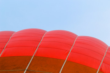 Outside of a hot air balloon