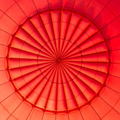 Inside of a hot air balloon