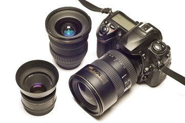 Digital SLR With Lenses