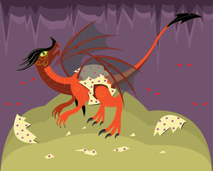 Young red dragon.