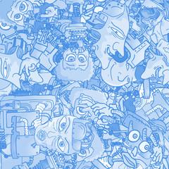 Blue wallpaper character