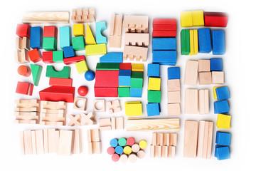 wooden blocks background