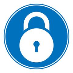Lock symbol button