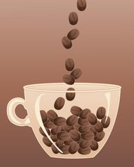 coffee bean cup