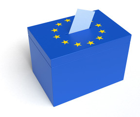 European Union Flag Ballot Box