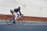 riding bike black man - 73421316