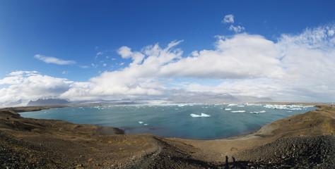 Jokulsarlon Glacial Lagoon panorama near Vatnajokull