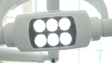 lamp in the dental office