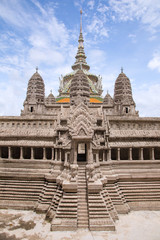 Miniature copy of Angkor Wat Temple at Temple of Emerald Buddha